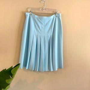 Sandra Robins Egg Blue Pleated Spring Skirt 14